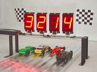 Pinewood Derby Timer 4 Lane Turbo